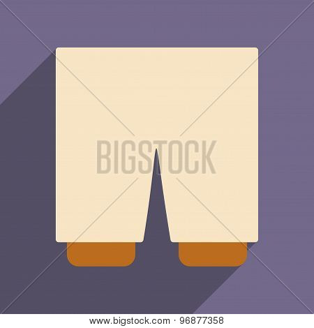 Flat with shadow icon and mobile applacation shorts