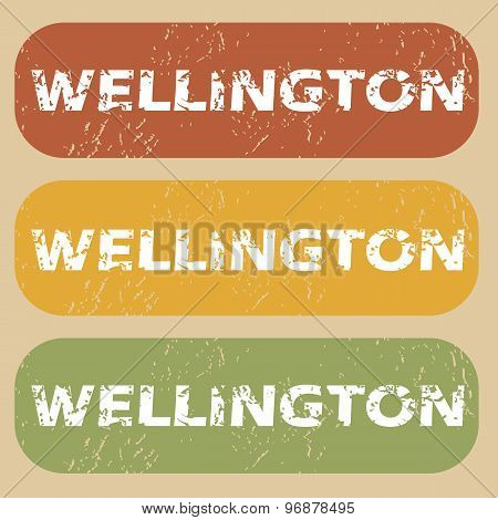 Vintage Wellington stamp set