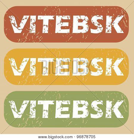Vintage Vitebsk stamp set
