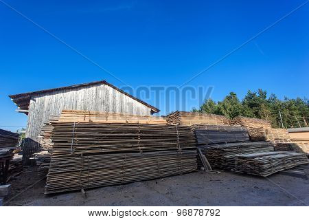 Saw Mill With Wood