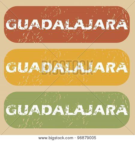 Vintage Guadalajara stamp set