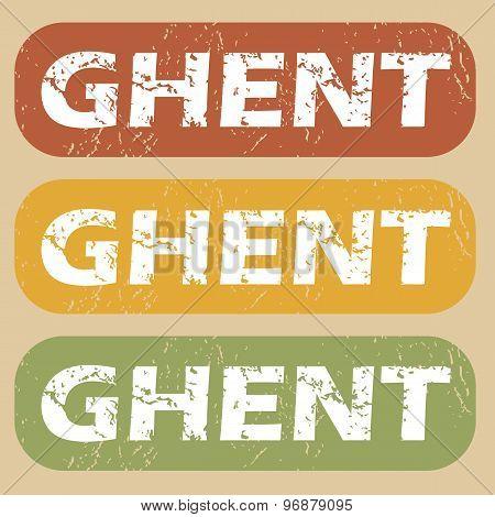 Vintage Ghent stamp set