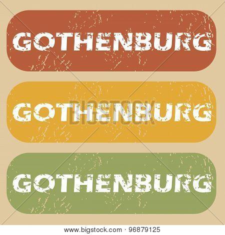 Vintage Gothenburg stamp set
