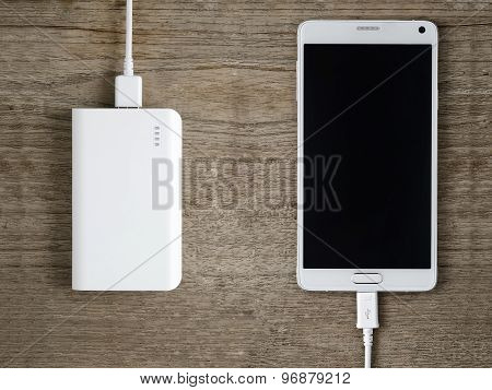 Power Bank And Smartphone