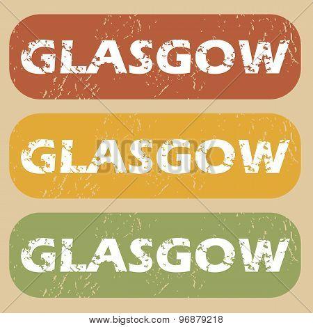 Vintage Glasgow stamp set