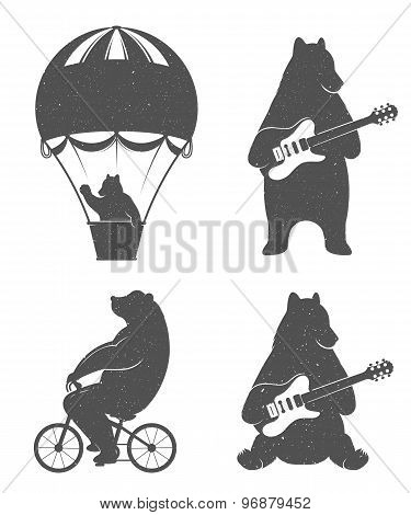 Fun Illustration Bears