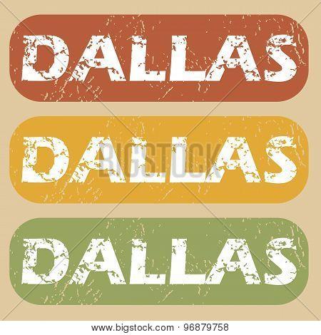 Vintage Dallas stamp set