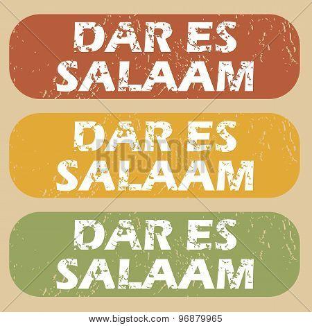 Vintage Dar Es Salaam stamps