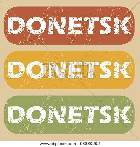 Vintage Donetsk stamp set