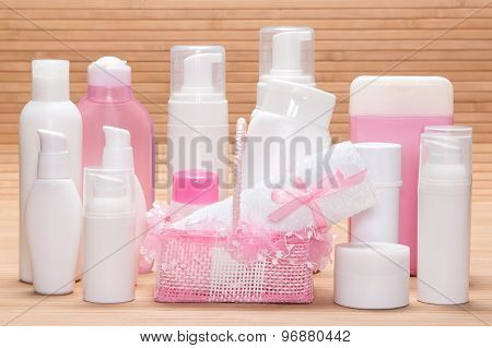 Big Set Of Cosmetic Products For Skincare