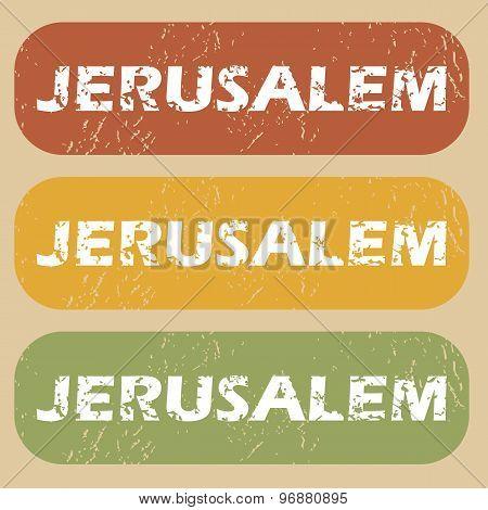 Vintage Jerusalem stamp set