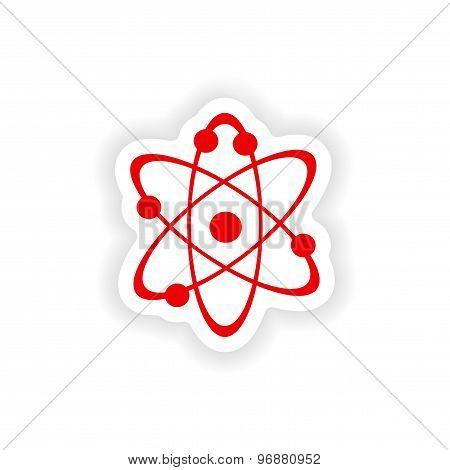 icon sticker realistic design on paper physics