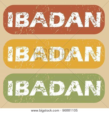 Vintage Ibadan stamp set