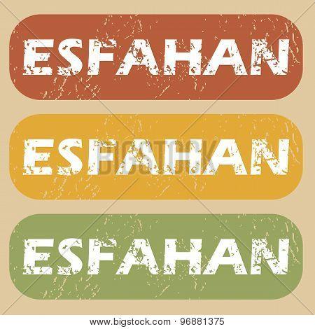 Vintage Esfahan stamp set
