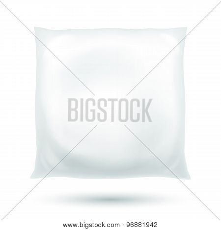Realistic fluffy pillow vector illustration.