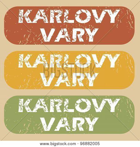 Vintage Karlovy Vary stamp set