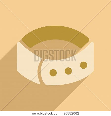 Flat with shadow icon and mobile application dog-collar