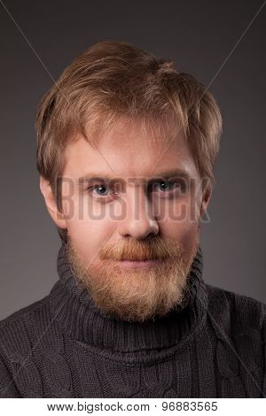 ginger bearded man