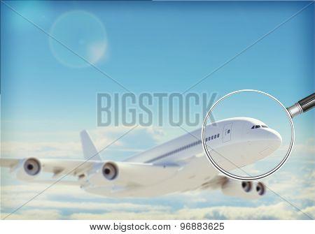 Jet under magnifier
