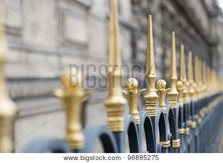 Golden Spiked Fence