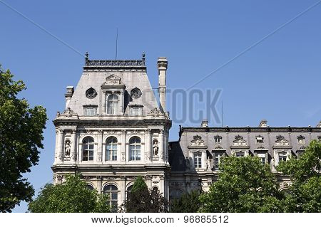 Buildings By The River Seine In Paris, France