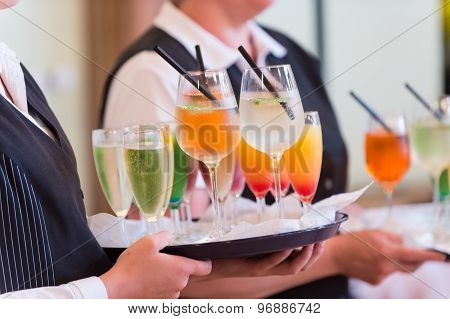 Waiters With Serving Tray