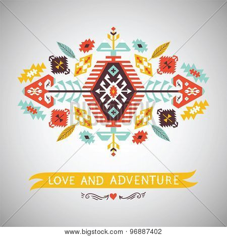 Vector  decorative element on native  style