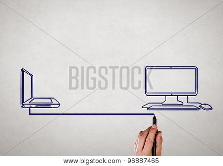 Laptop and computer connection