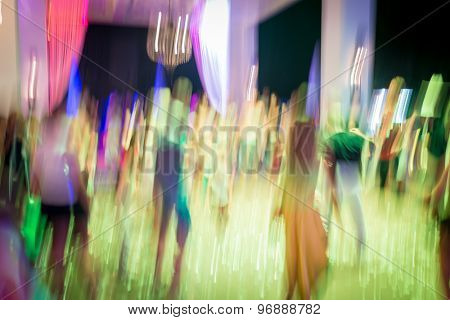 Abstract dance party