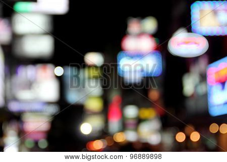 Blur Neon Light Nightlife