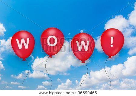 Wow Text On Balloon