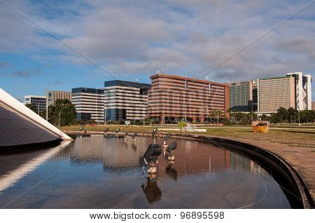 Modern Office Buildings in Brasilia