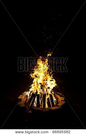 Image of campfire by night