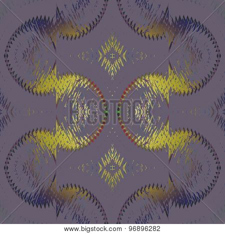 Seamless sprial pattern gold purple gray