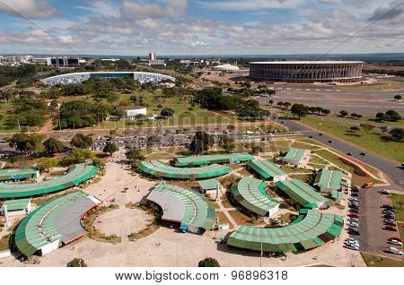 Aerial View of Flea Market of Brasilia