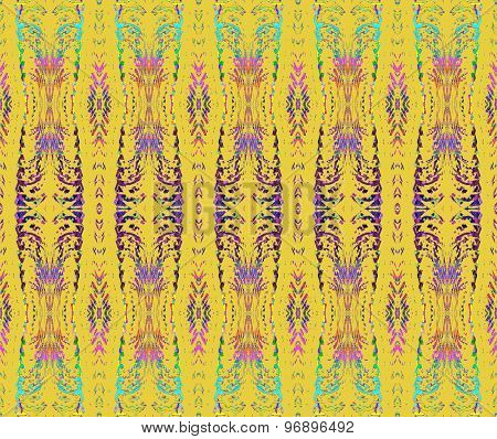 Seamless pattern yellow violet
