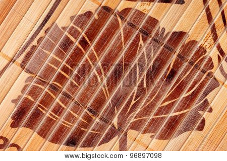 Brown wicker texture
