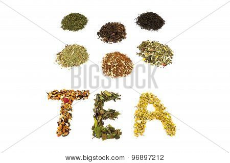 Word Tea With Various Flavors