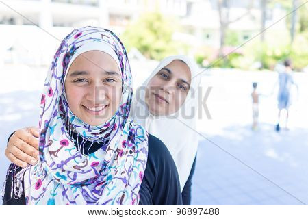 Happy Muslim girls