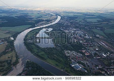 View Of Magdeburg And Salbker Lakes