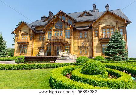 Novi Petrivtsi, Ukraine - May 27, 2015 Mezhigirya residence of ex-president of Ukraine Yanukovich. View of