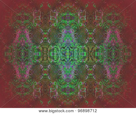 Seamless pattern red green