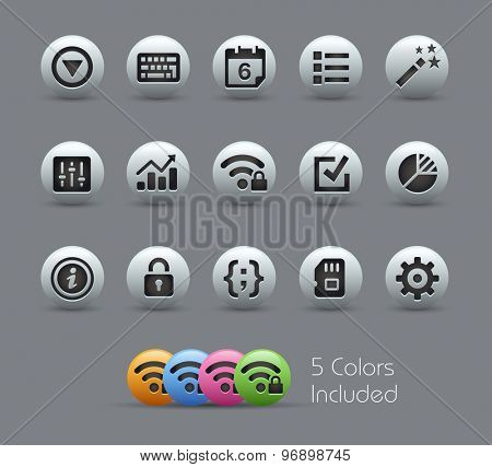 System Settings Interface // Pearly Series ----- The Vector file includes 5 color versions for each icon in different layers -----