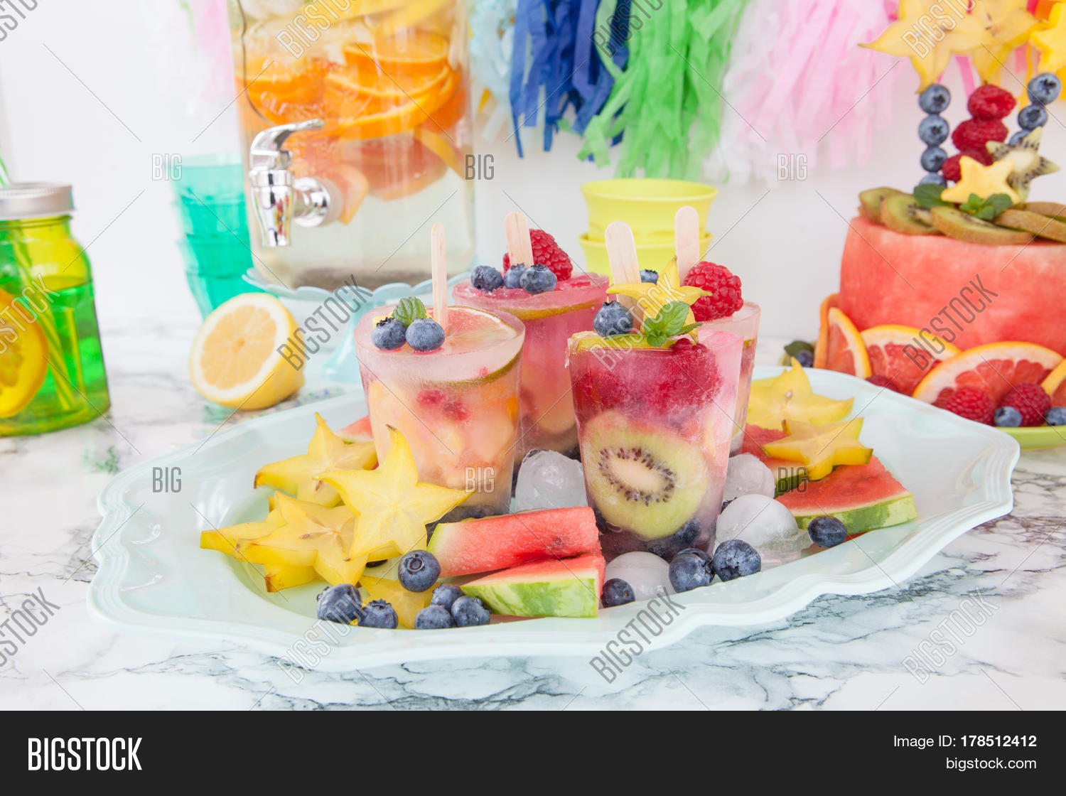 Homemade Frozen Popsicles Made Image Photo Bigstock