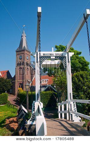 Maxima Bridge In Village Marken
