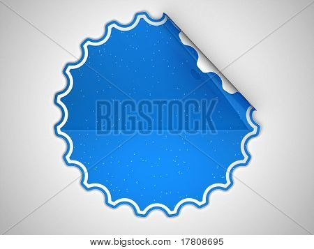 Blue Round Spotted Sticker Or Label