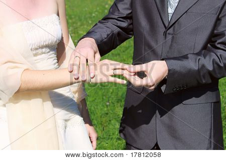 Rings Exchange In The Wedding