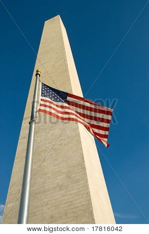 American Flag in Wind