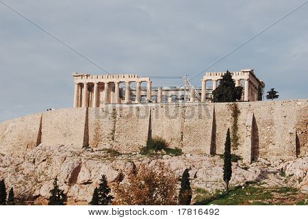 Parthenon,the holy rock