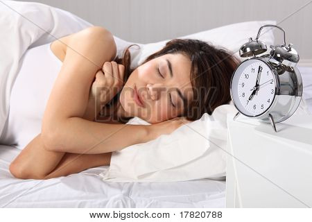Beautiful woman over sleeping